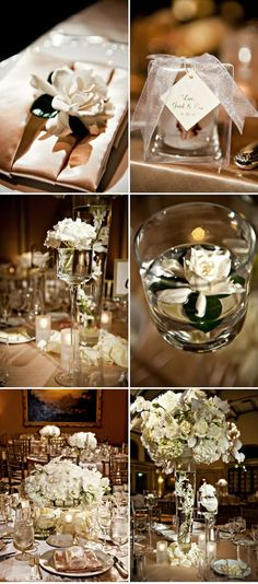 Elegant ivory and gold wedding decor #weddingdecor #elegantwedding #goldwedding #wedding #reception