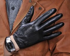 Mil-Tec Tactical Fingerlinge Leder schwarz