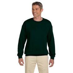 Hanes Ultimate 90/10 Fleece Men's Crew-Neck Deep Forest Sweater