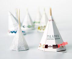 North American teapee packaging design 北美茶包的设计,设计成了印第安的帐篷
