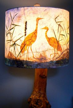 Artisan Papers and Pressed Plant Lamp Shade by LiteandShadow, $70.00