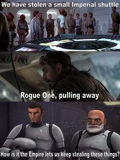 We really need to work on securing our shuttles : EmpireDidNothingWrong Star Wars Jokes, Star Wars Facts, Star Wars Comics, Star Wars Rebels, Star Wars Clone Wars, Star Trek, Star Wars Pictures, War Image, Star Wars Baby