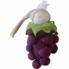 Grapes - Organic Cotton Teether Toy