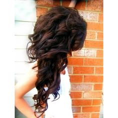 long curly hair Hairstyles and Beauty Tips ❤ liked on Polyvore