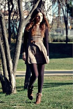 Dress with leather bow belt