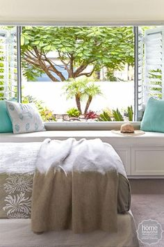 Five smart storage ideas for your bedroom. I want that window in my bedroom imagine waking up to that each morning. ❤️