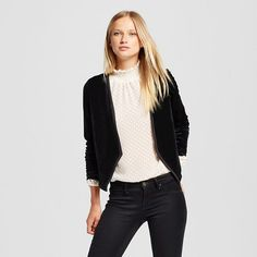 Women's Velvet Blazer Black M - Mossimo™ : Target