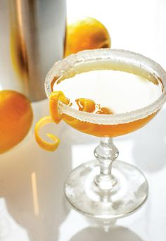 The Sidecar. The Sidecar the perfect blend of brandy Cointreau and lemon juice make up this classic cocktail. Brandy Cocktails, Classic Cocktails, Fun Cocktails, Cocktail Drinks, Cocktail Recipes, Drink Recipes, Party Recipes, Refreshing Drinks, Yummy Drinks