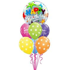 Big Brilliant Stars Birthday BouquetOnline Balloons Delivery In Australia Send