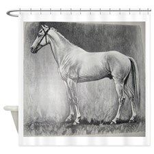 Abessinier Black and White Shower Curtain for