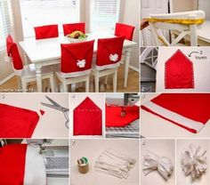 chair seat covers-santa clause is coming to town