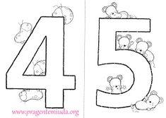 Pra Gente Miúda: Números Coloridos para imprimir