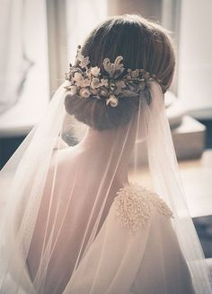 Blooms and berries up the pretty on this sweet chignon. Wedding Hairstyles, Hair Updos, Bridal Hair Accessories