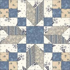 Continuing with the holiday spirit, today's block is Good Cheer, originally published by Clara Stone It was also called Stepping Stones by the Kansas City Star in Star Quilt Patterns, Star Quilts, Pattern Blocks, Quilt Blocks, Quilting Projects, Quilting Designs, Quilting Ideas, Electric Quilt, Civil War Quilts
