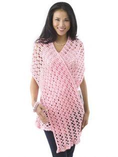 """""""Pink Ribbon"""" Shawl   Yarn   Free Knitting Patterns   Crochet Patterns   Yarnspirations"""