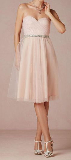Blush Tulle Dress ♥ omg saw this and first thought was this has to be my bridesmaid dress!!!