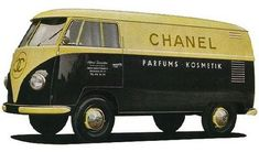 Anyone who has watched the first season of Mad Men knows that the late was something of a golden age for Volkswagen in print advertising. At the same time, hand-painted advertising on split-window Volkswagen buses was quickly gaining… Volkswagen Bus, Vw T1, Volkswagon Van, Volkswagen Transporter, Vw Caravan, Vw Camper, Vw Vintage, Vintage Chanel, Logo Vintage