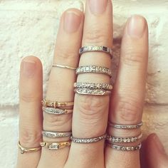 """SO MANY lovely wedding bands over at our Nolita store today. #showmeyourrings"" Photo taken by @ericaweiner on Instagram, pinned via the InstaPin iOS App! http://www.instapinapp.com (05/26/2015)"
