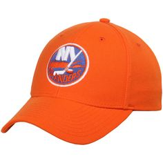 Fanatics.com: New York Islanders Reebok Basic Structured Adjustable Hat - Orange