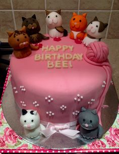 fondant cat birthday cake Cakes by Sweet Cravings Toronto