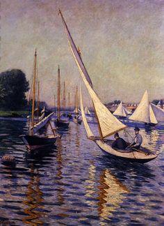 Gustave Caillebotte - Régates à Argenteuil