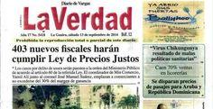 Diario La Verdad, año 17 #5.418, del sábado 13 de septiembre de 2014 | Notivargas