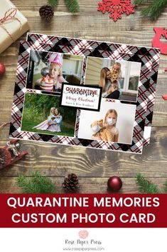 Share quarantine memories and holiday greetings with Plaid holiday photo cards. Need to add more pictures or share a detailed message? Add a complementary custom back upgrade. We design, personalize, and professionally print your holiday cards for you. Shop Holiday Cards today.