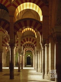 Interior of the Mezquita or Mosque at Cordoba, Cordoba, Andalucia), Spain Photographic Print by Michael Busselle at Art.com