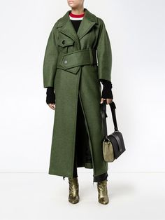 Marni long belted trench coat, shop now at Farfetch