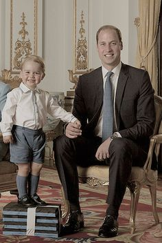 duchesscambridges:  Prince George and Prince William, June 2015