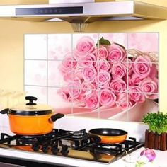 JJ-ZS005 75*45cm Kitchen Wall Stickers Foil oil sticker Decal Home Decor Art Accessories Decorations Supplies items Products - GKandAa - 1