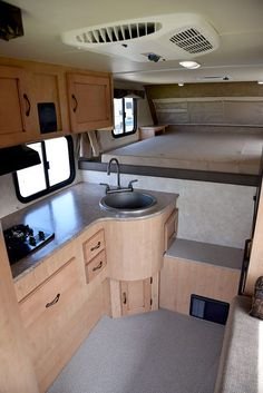 Beautiful Camper Van Interior Decoration Inspirations - Page 16 of 31 - Best Truck Camper, Slide In Truck Campers, Truck Camper Shells, Pickup Camper, Camper Trailers, Pickup Trucks, Camper Storage, Diy Camper, Homemade Camper