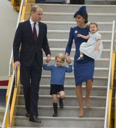 The Duke and Duchess of Cambridge arrived at British Columbia's Victoria Airport with Prince George ... - ECAA/ZDS/WENN