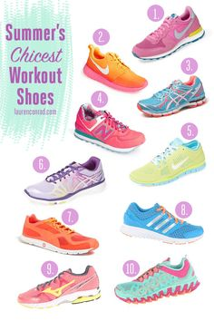 The 10 Best Workout Shoes for Summer {so cute, we want them all} Sport Fashion, Fitness Fashion, Fashion Shoes, Fitness Wear, Best Workout Shoes, Workout Wear, Yoga, Cute Shoes, Me Too Shoes