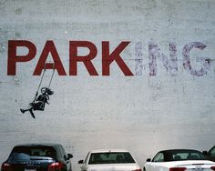 PARKing by Banksy - graffiti/street art