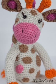 Crochet Giraffe Amigurumi Toy Jillian  Made to by TwoGirlsCrochet, $43.50
