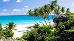 Bottom Bay, Barbados - this is only for strong swimmers since the waves can get strong but a beautful spot for a picnic and the chance to see turtles.