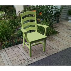 A&L Furniture Company Recycled Plastic Ladderback Dining Chair w/ Arms