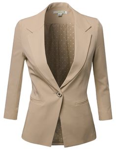 Amazon.com: Awesome21 Women's Solid Boyfriend Look Stripe Lining Blazers: Clothing