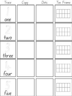 Teachable Moments blog - Kinder Maths Freebies