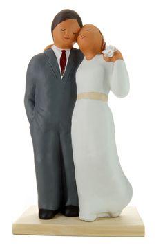Pareja de novios. #wedding #Caketoppers #Boda