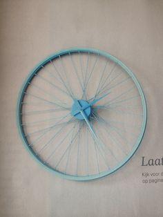 Omg. Een fietswiel als klok! #geweldig