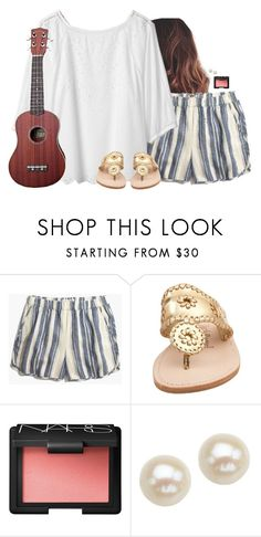"""""""Just got these shorts"""" by aweaver-2 on Polyvore featuring Madewell, Jack Rogers, NARS Cosmetics and Honora"""