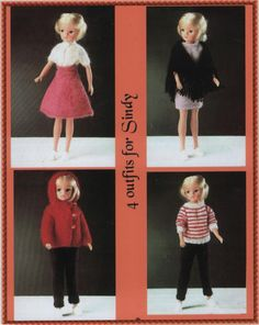 Several books of Sindy patterns, complete books.