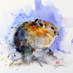 PIKA Mouse Watercolor Print by Dean Crouser por DeanCrouserArt