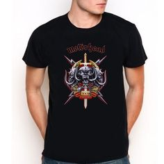 Motorhead Logo Custom Black T-Shirt Tee All Size