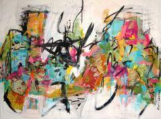 "Contemporary Painting - ""Joyful Outburst"" (Original Art from Kat Crosby Art)"
