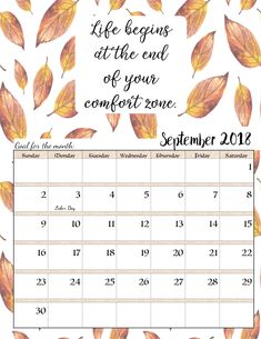 Free Printable 2019 Monthly Motivational Calendars | Free ...