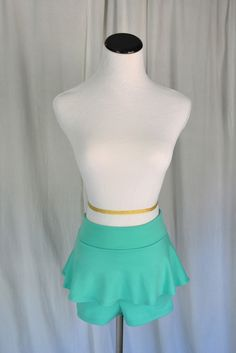 Mint Peplum Shorts