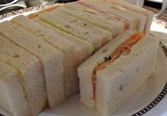The gluten free sandwiches at the afternoon tea at Flemings Mayfair Hotel